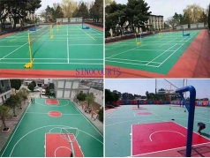 5mm to 8mm Outdoor multifunctional sport courts