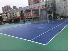 5mm outdoor stone surface pvc sports flooring for multi-functional sport courts